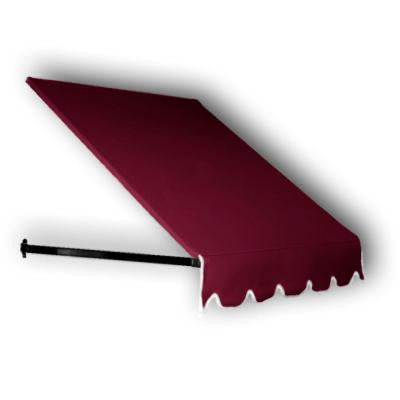 40 ft. Dallas Retro Window/Entry Awning (44 in. H x 24 in. D) in Burgundy