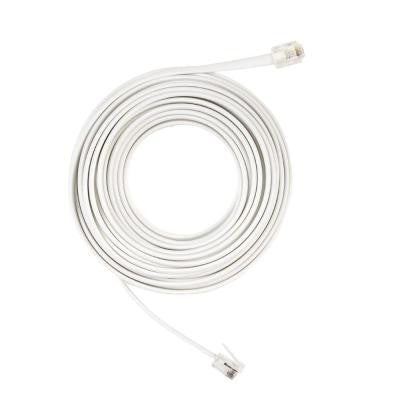 25 ft. Corded Phone Line - White