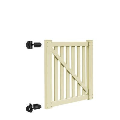 Colorado 4 ft. x 4 ft. Sand Vinyl Un-Assembled Fence Gate