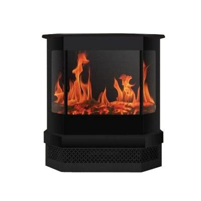 Cleveland 23 in. Bay Window Style Electric Fireplace in Black