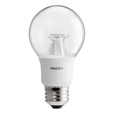 40W Equivalent Soft White Clear A19 Dimmable LED with Warm Glow Light Effect Light Bulb