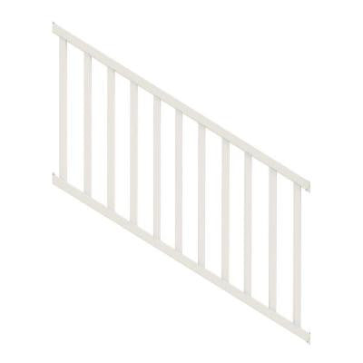 Select 3 ft. White Vinyl Stair Rail Kit with Square Balusters