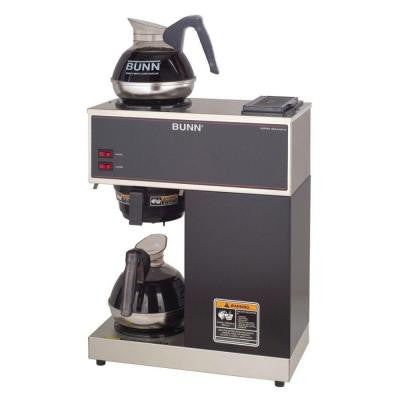 12-Cup Pourover Commercial Coffee Brewer with 2 Warmers
