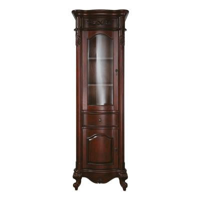 Provence 24 in. W x 19.2 in. D x 72 in. H Linen Tower in Antique Cherry