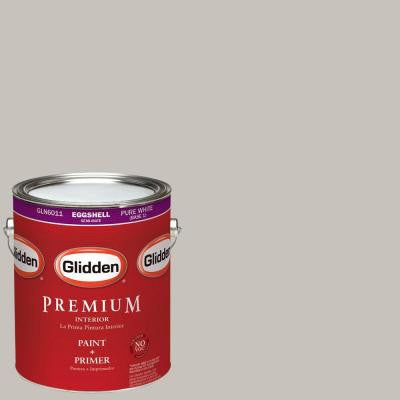 1-gal. #HDGCN54 Sutton Place Grey Eggshell Latex Interior Paint with Primer
