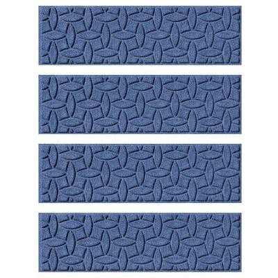 Navy 8.5 in. x 30 in. Ellipse Stair Tread (Set of 4)