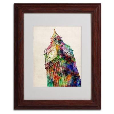 11 in. x 14 in. Big Ben Matted Framed Art