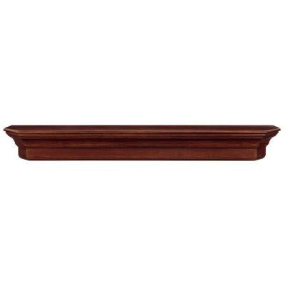 The Lindon 6 ft. Cherry Distressed Cap-Shelf Mantel