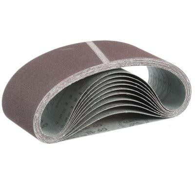 4 in. x 24 in. 60-Grit Abrasive Belt (10-Pack)