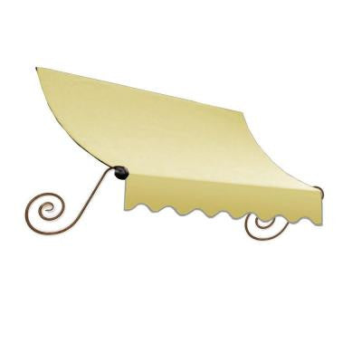 10 ft. Charleston Window Awning (44 in. H x 36 in. D) in Light Yellow