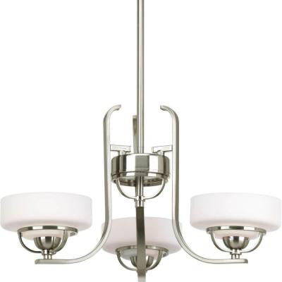 Torque Collection 3-Light Brushed Nickel Chandelier