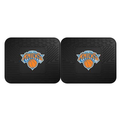 NBA New York Knicks Black Heavy Duty 2-Piece 14 in. x 17 in. Vinyl Utility Mat