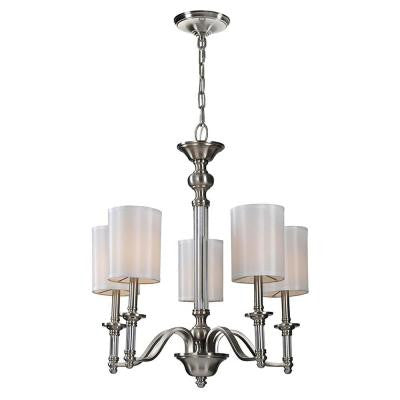 Rosa 5-Light Satin Nickel Chandelier