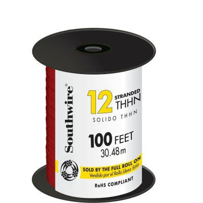 100 ft. 12 Stranded THHN Wire - Red