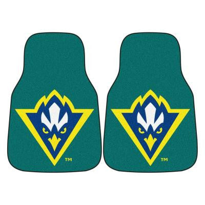 NCAA University of North Carolina Wilmington Heavy Duty 2-Piece 18 in. x 27 in. Nylon Carpet Car Mat
