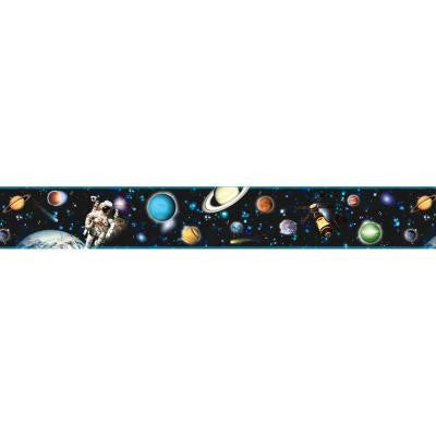 6 in. Buzz Aldrin Black Space Border