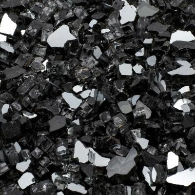 1/2 in., 10 lb. Medium Black Reflective Tempered Fire Glass