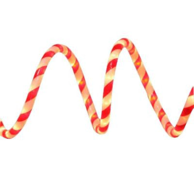 18 ft. Red and White Candy Cane Rope Light Kit