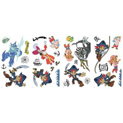 5 in. W x 11.5 in. H Captain Jake and the Never Land Pirates 27-Piece Peel and Stick Wall Decal