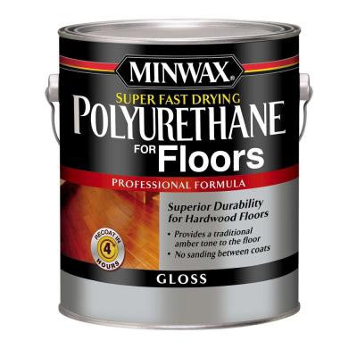 1 gal. Gloss Super Fast-Drying Polyurethane for Floors (2-Pack)