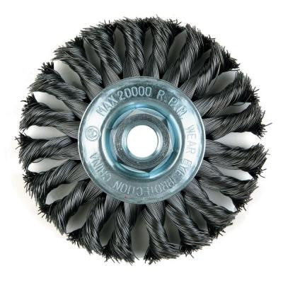 4 in. Knotted Wire Wheel Brush