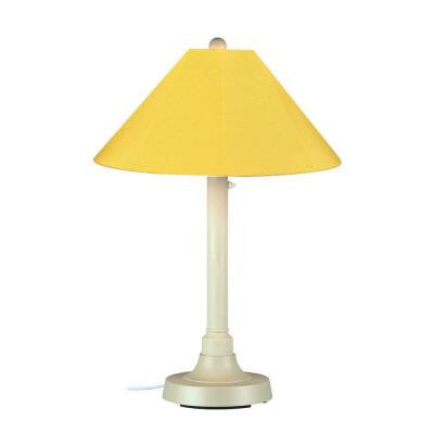 San Juan 34 in. Outdoor White Table Lamp with Buttercup Shade