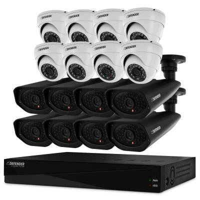 16-Channel 960H 2TB Surveillance DVR with (8) 800TVL Bullet and (8) 800TVL Dome Cameras