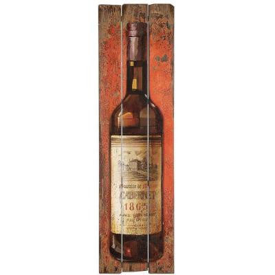 59.75 in. H x 16.75 in. W Wood Wine Bottle Wall Plaque