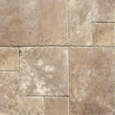 Mediterranean Walnut Pattern Honed-Unfilled-Chipped Travertine Floor and Wall Tile (5 Kits / 80 sq. ft. / Pallet)