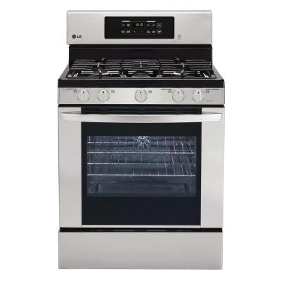 5.4 cu. ft. Single Oven Gas Range with Self-Cleaning Convection Oven in Stainless Steel