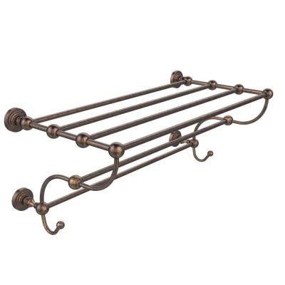 Waverly Place Collection 24 in. W Train Rack Towel Shelf in Venetian Bronze