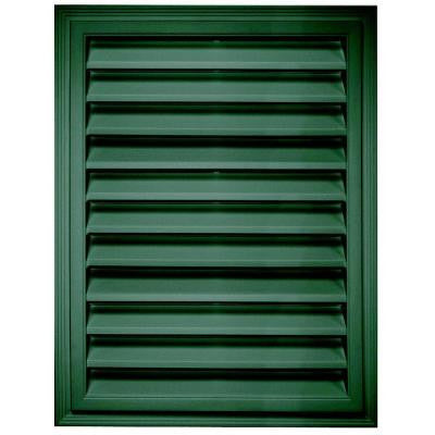 18 in. x 24 in. Rectangle Gable Vent #028 Forest Green
