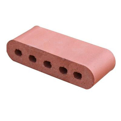 Double Bullnose Rose Tan 11.5 in. x 3.5 in. x 2.19 in. Cored Clay Brick