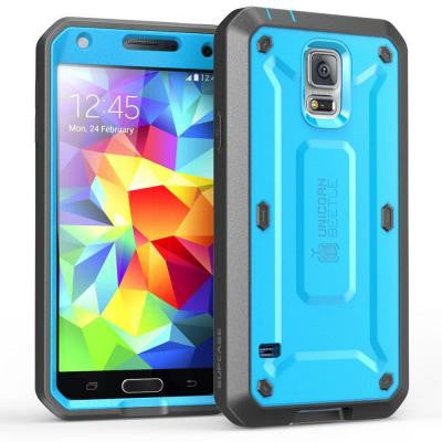 Galaxy S5 Unicorn Beetle Pro Full Body Case with Screen Protector - Blue/Black