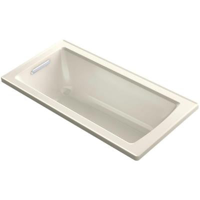 Archer 5 ft. Reversible Drain Soaking Tub in Biscuit