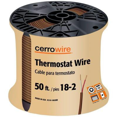 50 ft. 18/2 Thermostat Wire - Brown