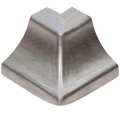 Dilex-HKU Brushed Stainless Steel 1 in. x 1-1/2 in. Metal 90 Degree Outside Corner