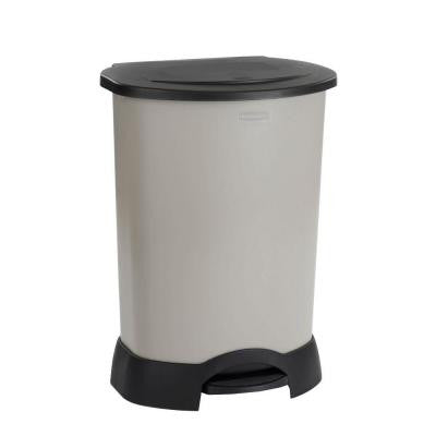30 Gal. Light Platinum Step-On Trash Can