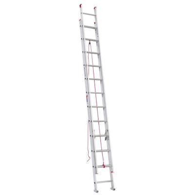 24 ft. Aluminum D-Rung Extension Ladder with 200 lb. Load Capacity Type III Duty Rating