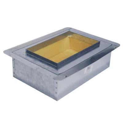 8 in. x 4 in. Duct Board Insulated Register Box - R6