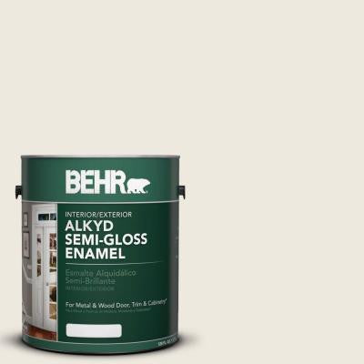 1-gal. #AE-25 Colony White Semi-Gloss Enamel Alkyd Interior/Exterior Paint