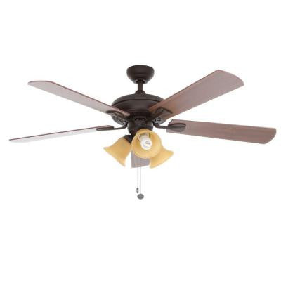 Scottsdale 52 in. Indoor Oiled Rubbed Bronze Ceiling Fan