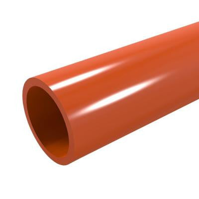 1-1/4 in. x 5 ft. Furniture Grade Sch. 40 PVC Pipe in Orange