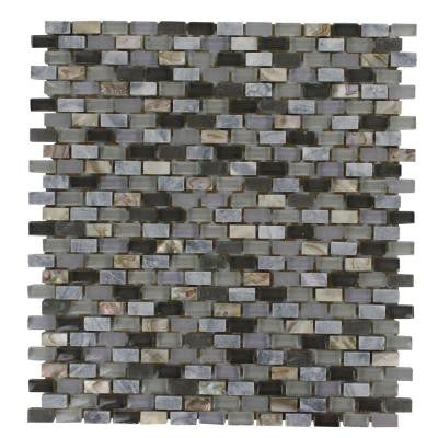 Paradox Cryptic 12 in. x 12 in. x 8 mm Mixed Materials Mosaic Floor and Wall Tile