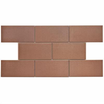 Alloy Subway Copper 3 in. x 6 in. Stainless Steel Over Porcelain Wall Tile (1 sq. ft. / pack)