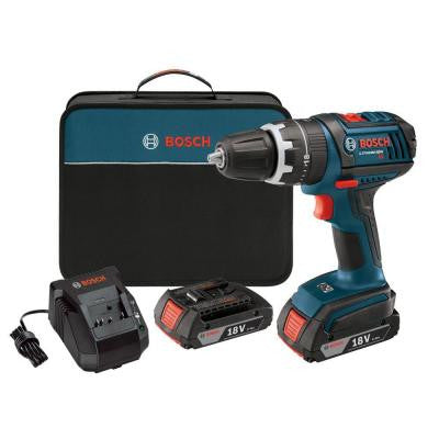 Factory Reconditioned 18-Volt Lithium-Ion Compact Tough 1/2 in. Cordless Hammer Drill Driver with 2 SlimPack Battery