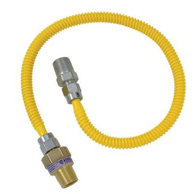 Safety+PLUS 1/2 in. MIP Excess Flow Valve x 3/8 in. MIP x 36 in. Gas Connector 3/8 in. O.D. (33,400 BTU)