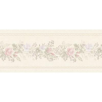 5 in. W x 180 in. H Alexa Pastel Floral Meadow Border