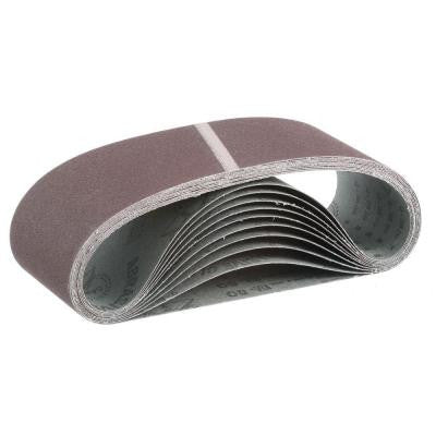 4 in. x 24 in. 80-Grit Abrasive Belt (10-Pack)