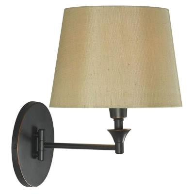 Martin 17 in. Oil-Rubbed Bronze Wall Swing Arm Lamp